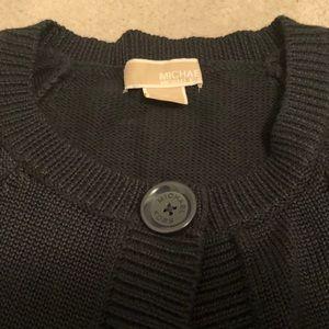 Michael Kors Sweaters - Michael Kors Crop Single Button Cardigan Sz L